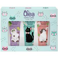 Подарочный набор Olea Hand Care Cats: крем для рук 3 вида по 30 мл