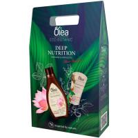 Подарочный набор Olea Eco Botanic Deep Nutrition: крем-гель для душа Лотос и каштан 300 мл+ крем-баттер для рук питательный Масло миндаля 50 мл