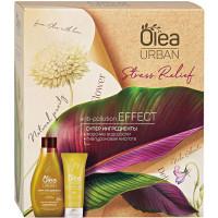 Подарочный набор Olea Urban Stress Relief: крем-гель для душа Снятие стресса 300 мл + крем для рук Тройное увлажнение 75 мл