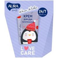 Подарочный набор Aura Beauty Warm Wishes: крем для рук питательный 50 мл