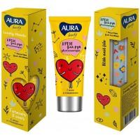 Подарочный набор Aura Beauty Lovely Hands: крем для рук увлажняющий 50 мл + пилочка для ногтей