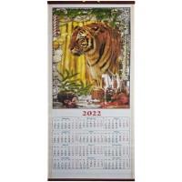 Календарь бамбуковый Тигр 2020, 32х76 см