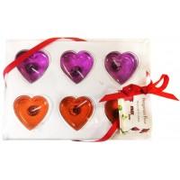 Свечи (сердце) новогодние, 2,5 см, в упаковке 6 шт