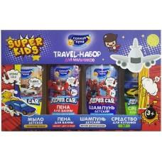 Подарочный набор для мальчиков Солнце и Луна Travel 3+: шампунь для волос 50 мл + средство для купания 2в1 50 мл +пена для ванны 50 мл + жидкое мыло 50 мл
