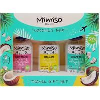 Подарочный набор Mimiso Coconut Mix: шампунь 50 мл + бальзам 50 мл + маска 50 мл