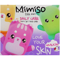 Подарочный набор Mimiso Daily Care: гоммаж для лица 100 мл + пенка 100 мл + маска 100 мл