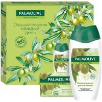 Подарочный набор Palmolive (Палмолив) Натурэль «Интенсивное увлажнение»: гель для душа 250 мл + туалетное мыло 90 г