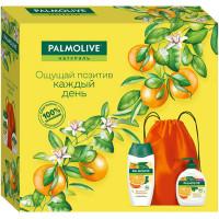 Подарочный набор Palmolive (Палмолив) Натурэль Витамин С и Апельсин: гель-крем для душа 250 мл + крем-мыло 300 мл + эко сумка
