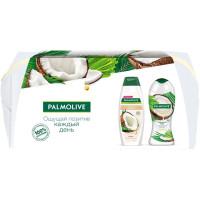 Подарочный набор Palmolive (Палмолив) Бережный уход Кокос: гель-крем для душа 250 мл + шампунь для всех типов волос 200 мл + косметичка
