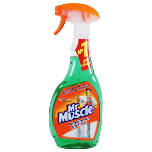 Моющее для стекла Mr. Muscle (Мистер Мускул) с нашатырным спиртом, курок, 500 мл