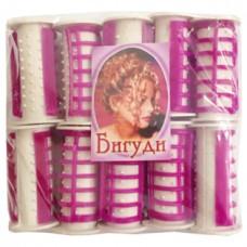 Бигуди термо (розовые) большие р-р L, h5 см, d2 см, 10 шт