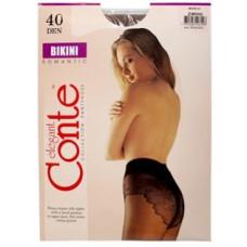 Колготки Conte Bikini (Конте Бикини), 40 den, Nero (черный), 3 размер