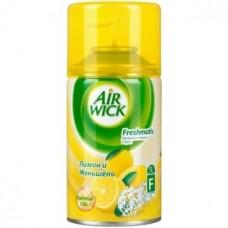 Освежитель воздуха автомат (сменный блок) Airwick (Аирвик) Лимон и женьшень, 250 мл