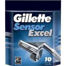 Кассеты для бритья Gillette Sensor Excel (Джилет Сенсор Иксэл) (10 шт)