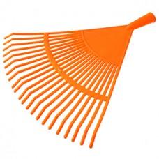 Грабли веерные 22-зубые, пластмассовые, с резьбой, без черенка, тулейка д2,5 см, 41х43 см