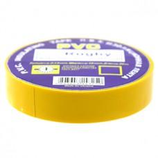 Изолента ПВХ желтая, 30 м, 17 мм