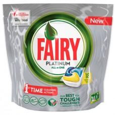 Капсулы для посудомоечных машин Fairy Platinum All in One, 18 шт