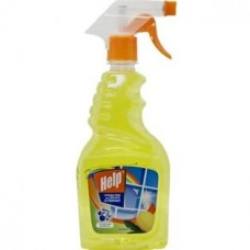 Моющее для стекла Help Лимон, курок (желтый) 500 мл
