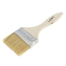 Кисть малярная плоская LOM, натуральная щетина, деревянная ручка 3 (75 мм)