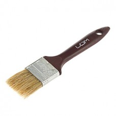 Кисть малярная плоская LOM, натуральная щетина, пластиковая ручка 1,5 (38 мм)