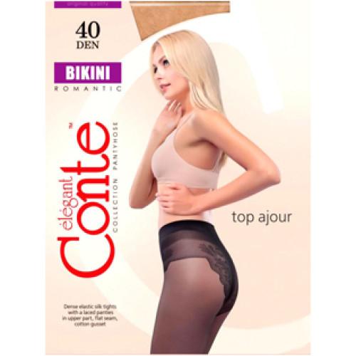 Колготки Conte Bikini (Конте Бикини), Grafit (графит), 40 den, 3 размер