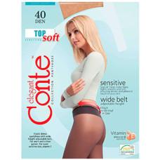 Колготки Conte Top Soft (Конте Топ Софт), Nero (черный), 40 den, 3 размер