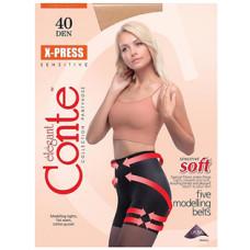 Колготки Conte X-Press (Конте Экспресс), Bronz (загар), 40 den, 2 размер