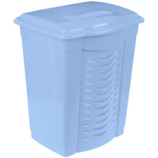 Корзина для белья пластмассовая, голубая, 50 л, 44х36х56 см