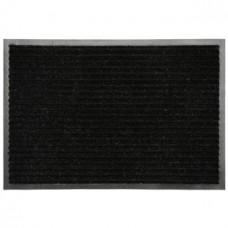 Коврик ворсовый ребристый на ПВХ основе Черный, 900*1500*8 мм