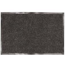 Коврик ворсовый ребристый, влаго-грязезащитный ЛАЙМА (черный), 90х120 см