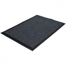 Коврик ворсовый ребристый на ПВХ основе, серый, 400*600*5 мм