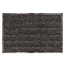 Коврик ворсовый ребристый, влаго-грязезащитный ЛАЙМА (черный), 60х90 см