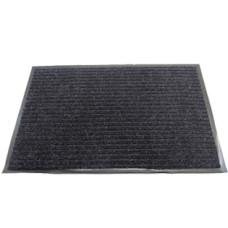 Коврик ворсовый ребристый на ПВХ основе Серый, 900*1500*8 мм