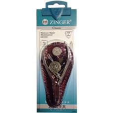 Кусачки маникюрные Zinger (Зингер) серебряные в чехле zo B-188 S-SH-LJ-K2SF Оригинал