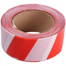 Лента ПВД сигнальная (красно-белая), 50 мм*200 м