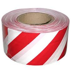 Лента ПВД сигнальная (красно-белая), 75 мм*200 м