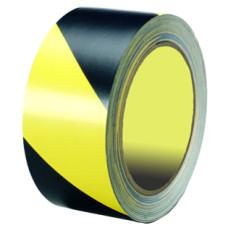 Лента ПВД сигнальная (желто-черная), 50 мм*200 м