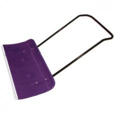 Лопата Движок (скрепер) для снега на колесиках в сборе с металлической ручкой, 82х45 мм