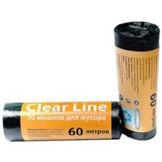 Мешки для мусора Clear Line черные, 60 л/30 шт
