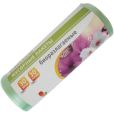 Мешки для мусора Eurohouse (Еврохаус) Биоразлагаемые, рулон 30 л/30 шт