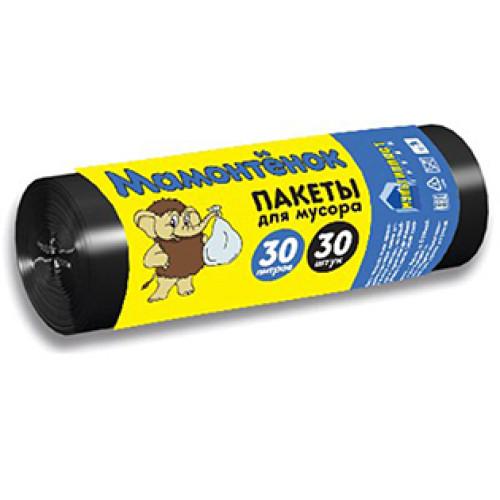 Мешки для мусора Мамонтенок, 30 литров, 30 шт
