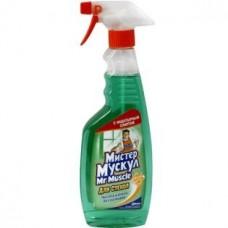 Моющее для стекла Мистер Мускул с нашатырным спиртом, курок (зеленый) 500 мл