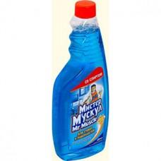 Моющее для стекла Мистер Мускул со спиртом, сменная бутылка 500 мл