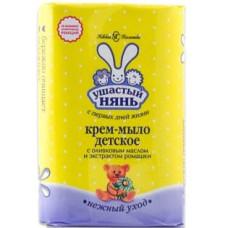 Крем-мыло детское Ушастый нянь с оливковым маслом и экстрактом ромашки 90 г