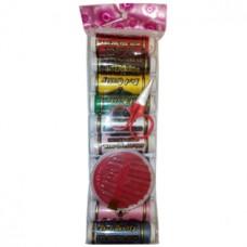 Набор для шитья 12 предметов: цветные нитки - 10 штук; иголки, в упаковке