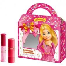 Детский набор Принцесса №1 Сказочное очарование (бальзам для губ Полезный уход + блеск для губ Жемчужный)