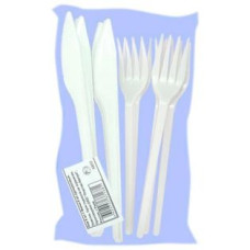 Набор одноразовой посуды Антелла, вилки 6 шт + ножи 6 шт