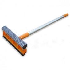 Окномойка Умничка (оранжевая) с насадкой 20 см и телескопической ручкой 120 см
