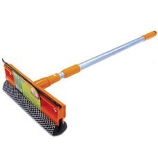 Окномойка Умничка (оранжевая) с насадкой 20 см и телескопической ручкой 95 см