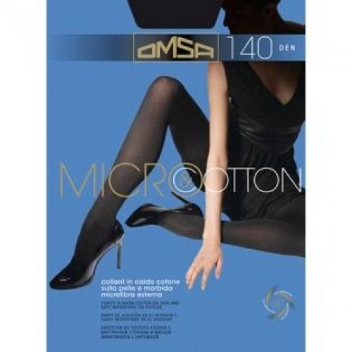 Колготки теплые OMSA Micro & Cotton, Moro (шоколад), 140 den, 3 размер